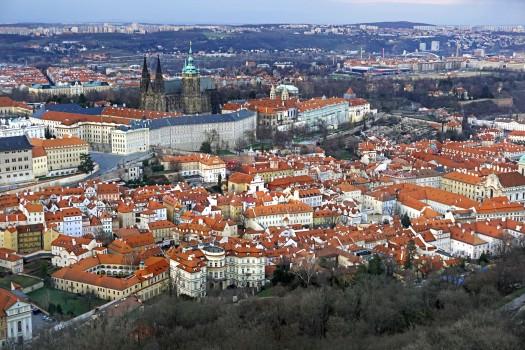 View from Petřín, Prague