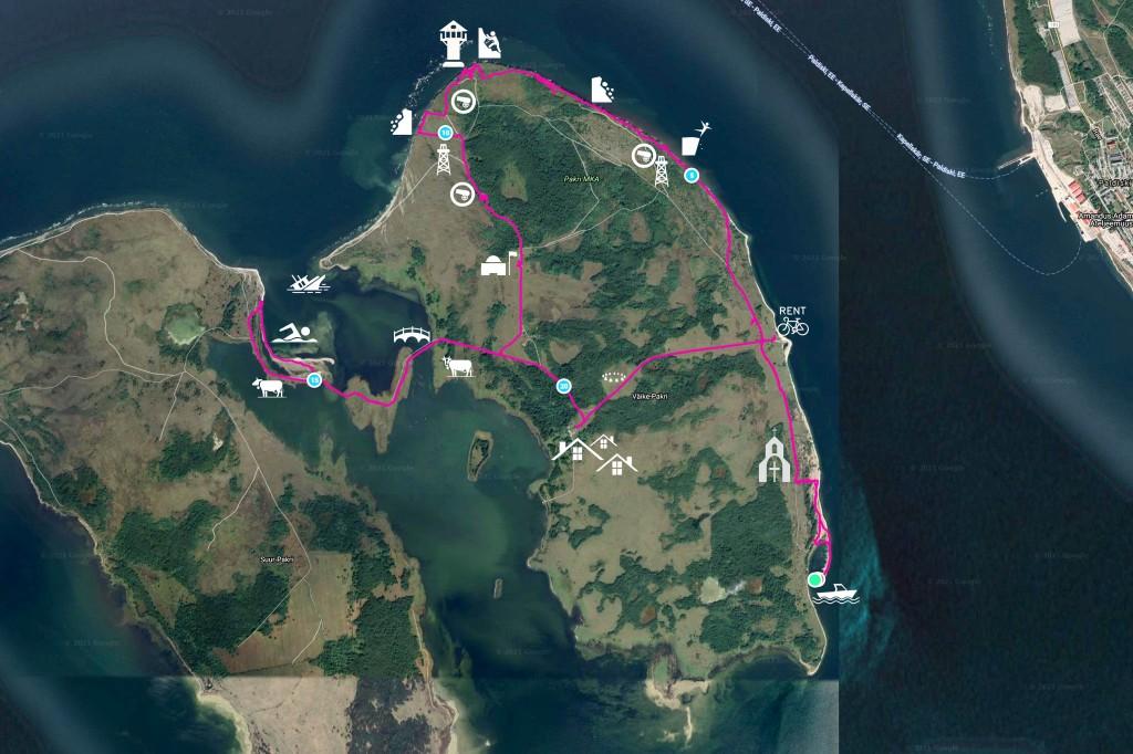 Pakri saarte kaart, Väike-Pakri ja Suur-Pakri